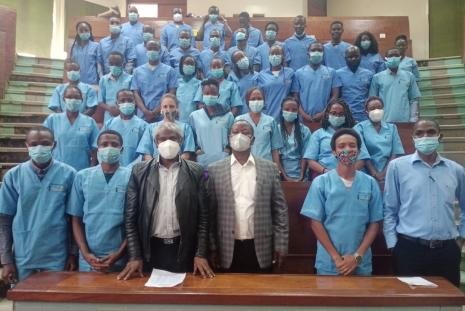 Donation and Issuance of Scrub Suits to 5th year Veterinary Students