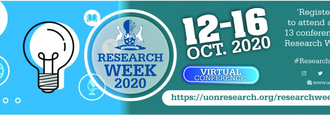 UNIVERSITY OF NAIROBI RESEARCH WEEK 2020